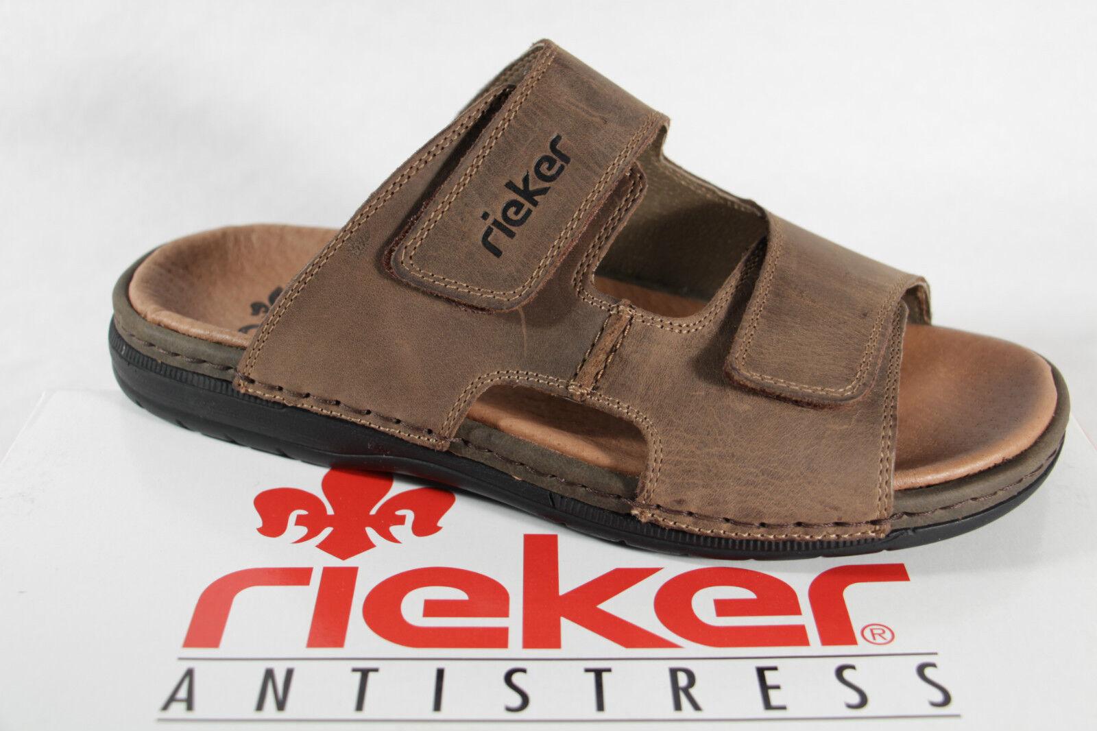 Rieker Pantoletten Pantolette Hausschuhe braun Leder  25592  NEU  | Verschiedene Arten Und Die Styles