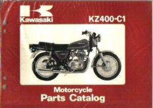 Used 1978 Kawasaki Kz400c1 Special Motorcycle Parts Manual Ebay