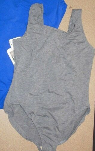 NWT CottonSpandex Tank leotard  XL ch//ladies Heather or Royal Shelf lined