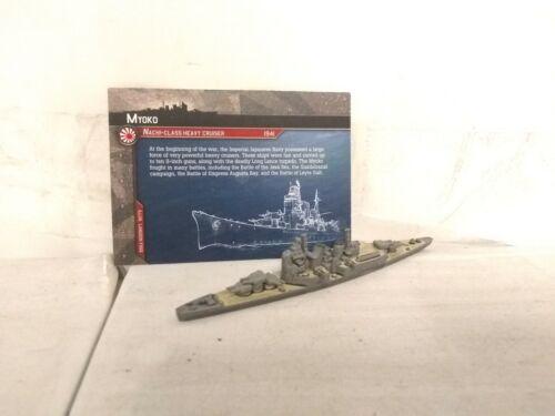 Axis /& Allies Miniatures Japanese Myoko Ship Cruiser w//card