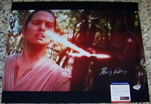 BLOWOUT SALE Daisy Ridley Star Wars Rey FULL NAME Signed 16x20 Photo PSA ITP COA