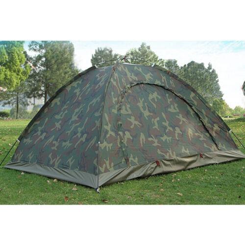 Doppelzelt Camping Tente étanche 2-3 3-4 personnes Camouflage Trekking Tente