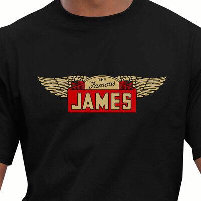 Race /& Retro Classic The Famous James Motorcycles T-Shirt