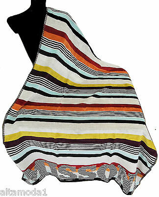 Towels & Washcloths Women's Clothing Candid Missoni Home Asciugamano Mare Master Moderno Kim 156 100x180 Enorme Logo Missoni Providing Amenities For The People; Making Life Easier For The Population
