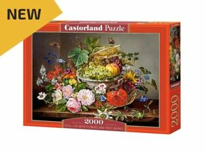 "Castorland Puzzle 2000Pieces Still Life with Flowers 36""x27"" Sealed box C200658"