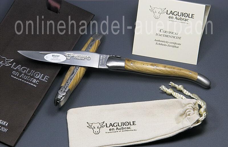 Laguiole en Aubrac l0212oli fsb1 olive legno 12 cm Coltellino Coltello