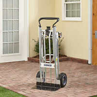 Cosco 3-in-1 Hand Truck/assisted Hand Truck/cart With Flat-free Wheels