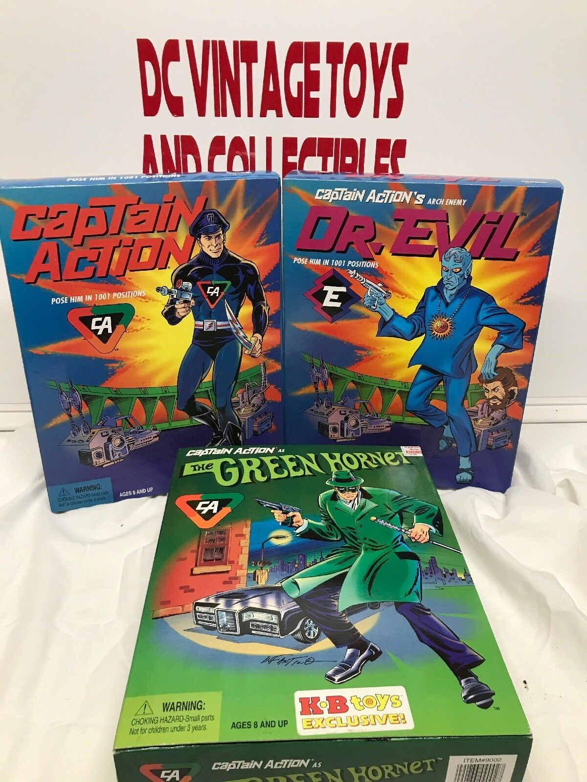 Captain Action Dr Evil Action Figure Lot Set Playing Mantis And The Green Hornet