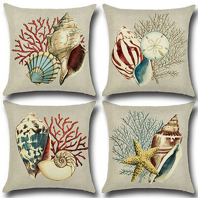 The Mediterranean Style Blue Ocean Sea Pillow Case Cushion Cover Tool