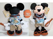 """Disney Store Hawaii EXCLUSIVE 17"""" MICKEY MOUSE Plush with Ukulele & Lei 2015 NEW"""