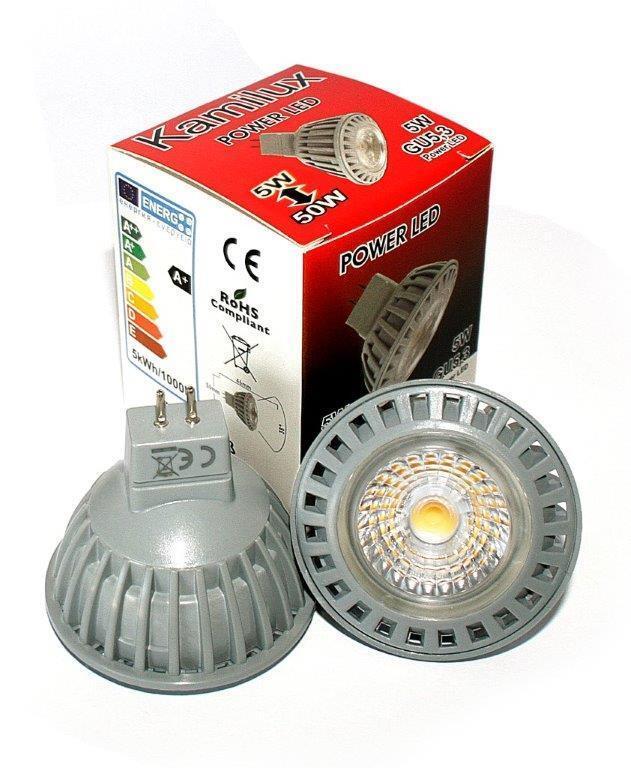 5W=50Watt Helligkeit Power LED COB Leuchtmittel GU10 oder MR16 12V   230V