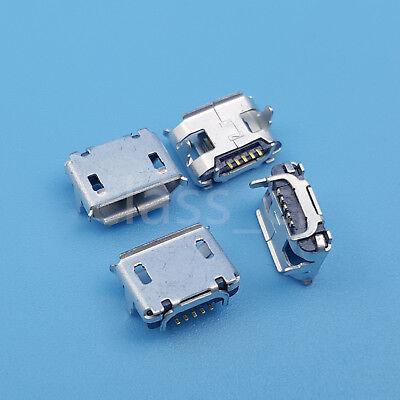 100Pcs Micro USB Type-B 5Pin Female Horns SMT Socket PCB Solder Connector