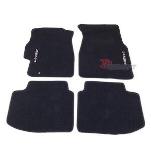 Fit 1996 2000 honda civic 2dr 4dr black nylon floor mats for 1992 honda accord floor mats