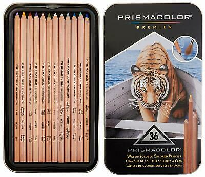 Prismacolor Premier Water-Soluble Colored Pencils 36 Pack New FREE SHIPPING!!!