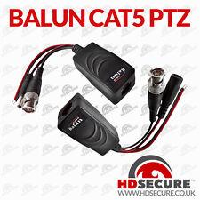 1 Pair BNC to RJ45 CAT5 Video Data Power Balun UTP Connector for CCTV PTZ Camera