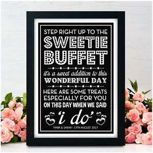 PERSONALISED-Wedding-Signs-Sweet-Table-Candy-Bar-Sweetie-Buffet-Vintage-Signs