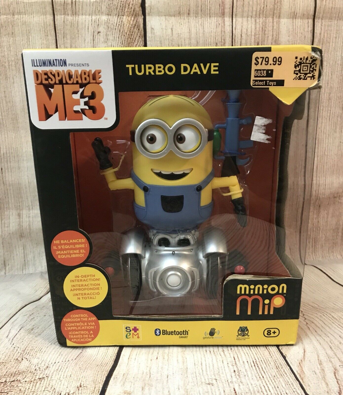 Wowee Despicable Me 3 Turbo Dave MIP Interactive Toy New in Box
