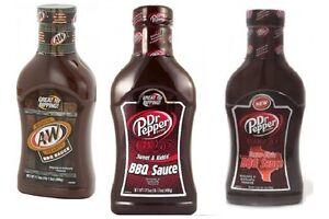 A&W OR Dr Pepper BBQ Sauce 18oz | eBay