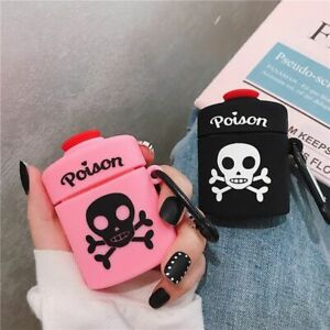For Airpods Case Cute 3d Cartoon Poison Skull Bone Earphone Case For Airpods Ebay