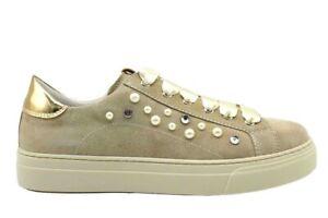 Nero-Giardini-Junior-P930920F-Ivory-Sneakers-Donna-Bambina-Casual