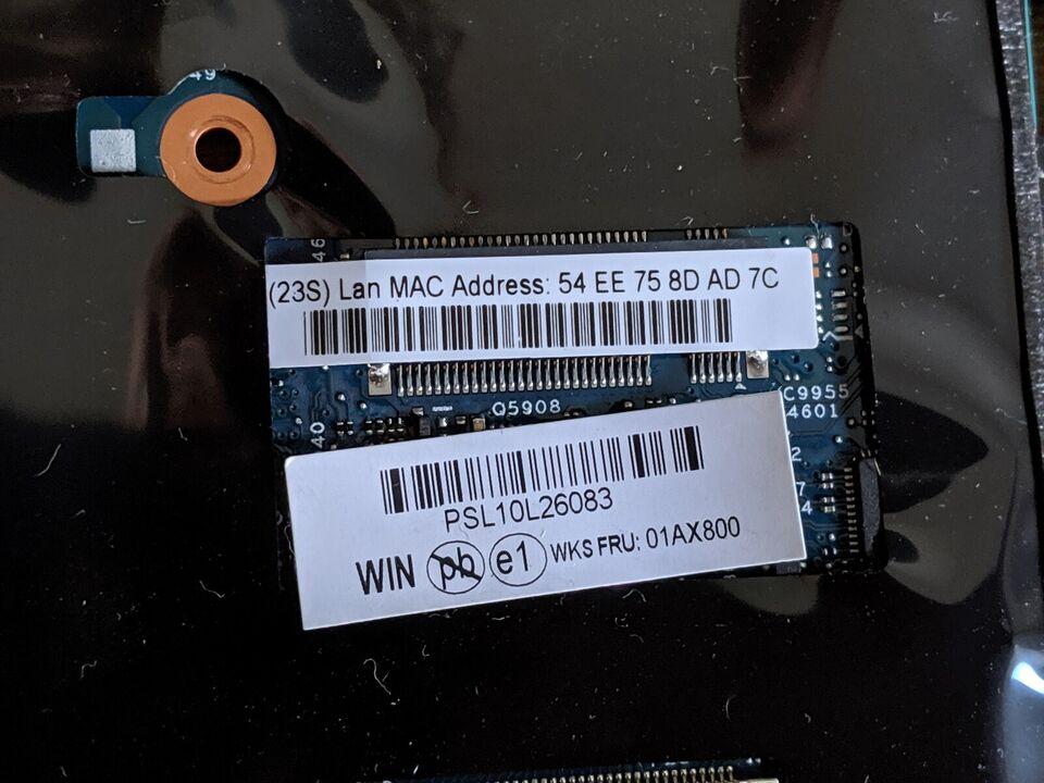 Motherboard bundkort, Lenovo Thinkpad, X1 Carbon Gen 4