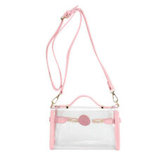 Clear Cross Body Bag See-Thru Jelly Messenger Purse Stadium Concert Transparent