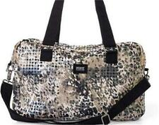 VICTORIA'S SECRET PINK BLING CLEAR SEQUIN LEOPARD DUFFLE GYM BAG TRAVEL LUGGAGE