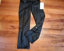 LULULEMON METHOD PANTS ANKLE LENGTH BLACK DENIM NWT size 6 with belt nwt
