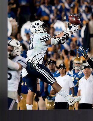 Sports Mem, Cards & Fan Shop Harvey Langi Byu Cougars Signed 8x10 Photo W/coa College-ncaa