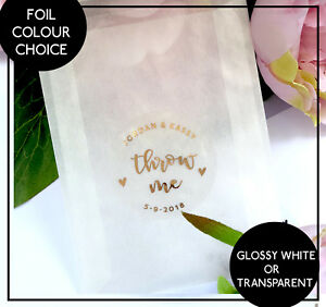 Image Is Loading Throw Me Stickers Confetti Wedding Favour Rose Gold