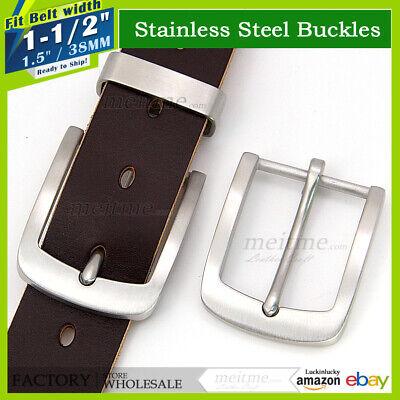 "Lot 1.5/"" Vintage Mens Stainless steel Belt Buckle Tongue Pin Hippie Buckles"