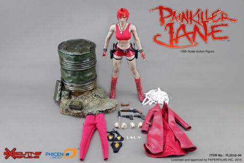 Scale Female Toys Phicen antalgique Jane Hot Red leatherlike Bottes Pour 1//6 12 in environ 30.48 cm