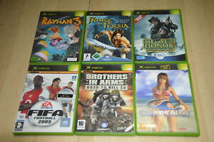 lot-6-jeux-XBOX-Rayman-Prince-of-Persia-Dead-or-Alive-Medal-of-Honnor-VF