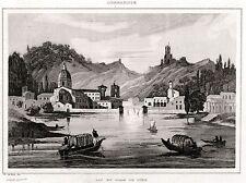 COMO E LAGO DI COMO. Lombardia.Regno Lombardo-Veneto. ACCIAIO.Stampa Antica.1838