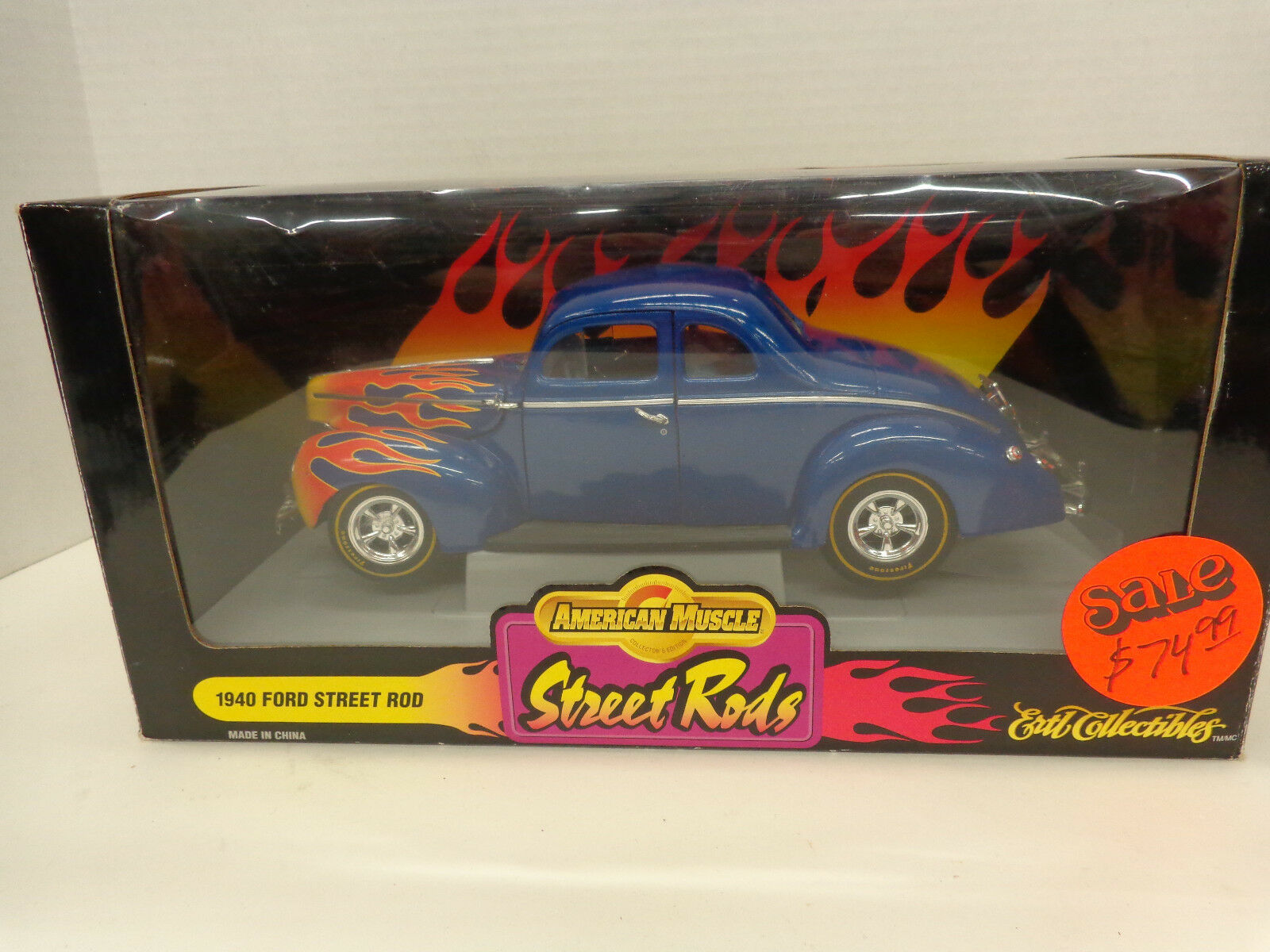 American Muscle Ertl 1 18 '40 Ford Street Rod Die Cast Car New In Original Box