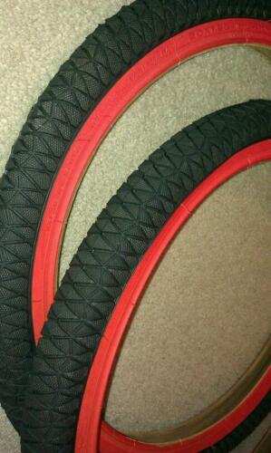 TWO DURO 20X1.95 BMX//FREESTYLE BICYCLE TIRES RED WALLS 2