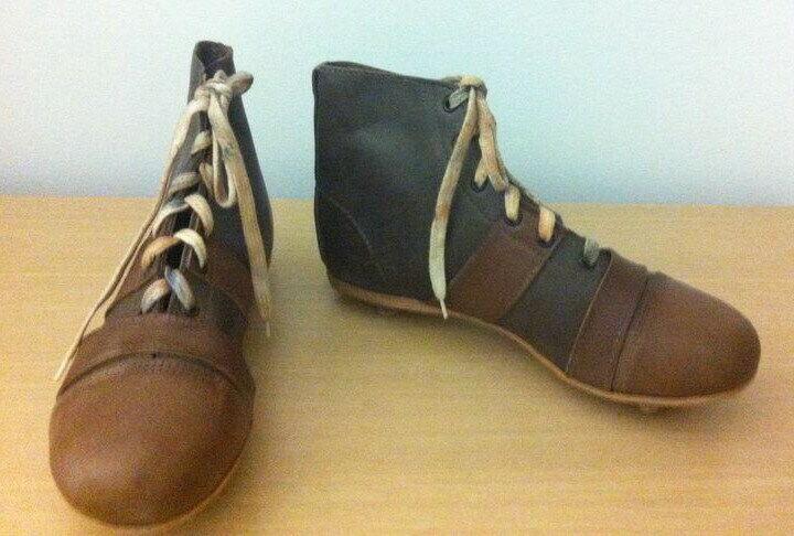 FOOTBALL SOCCER RETRO stivali scarpe. USED FROM 1900 TO 1930. PRE ADIDAS