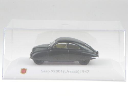 Saab 92001 Ursaab 1947 schwarz Modellauto 3898001 Atlas 1:43