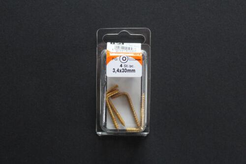 Rustique Crochets Wandhaken en noir et laiton 3,4 x 30 à 5,2 x 50 mm