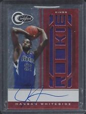 1/1 HASSAN WHITESIDE 2010-11 TOTALLY CERTIFIED RED JERSEY AUTO RC #D 33/91 JSY#!