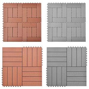 11x terrassenfliesen holzfliesen 30x30cm balkon fliesen terrasse pool 1m wpc ebay. Black Bedroom Furniture Sets. Home Design Ideas