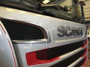 Scania-P-G-R-R-2009-Series-Chrome-Grill-Air-Flow-Trim-2pcs-STAINLESS-STEEL