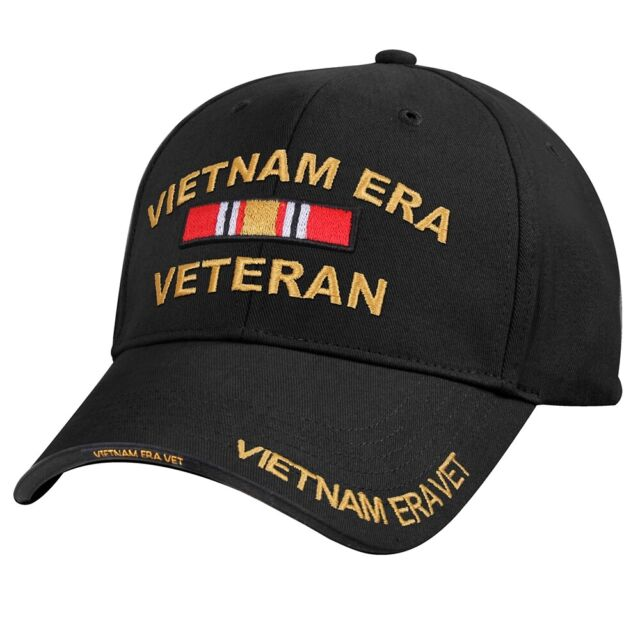 0f5140020b1 Black US Army Vietnam Era Veteran Vet Ribbon Baseball Hat Cap Rothco ...