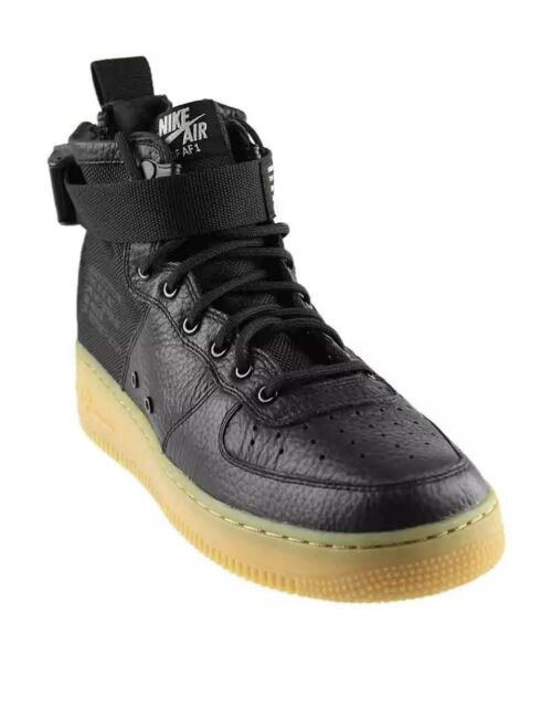 huge discount 39f8a 393e2 Nike SF AF 1 Mid Shoes 'Black Gum Air Force 1's SIZE 7Y 8.5 Women's Aj0424  001