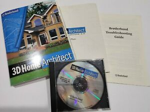 Broderbund 3D Home Architect Deluxe 3.0 w/ manual Windows 95 98