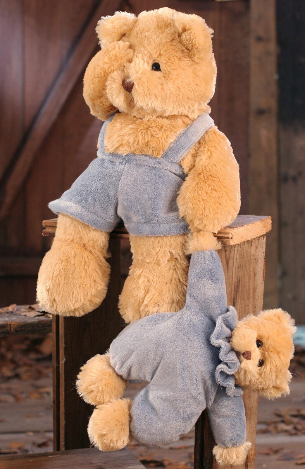 Teddy Bear 'Chandler & Bobo' Settler Bears Handmade Collectable Boy Gift 44cms