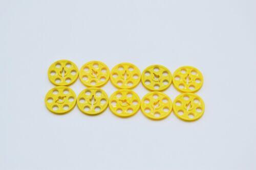 LEGO 10 x Technik Riemenscheibe gelb Yellow Technic Wedge Belt Wheel Pulley 4185