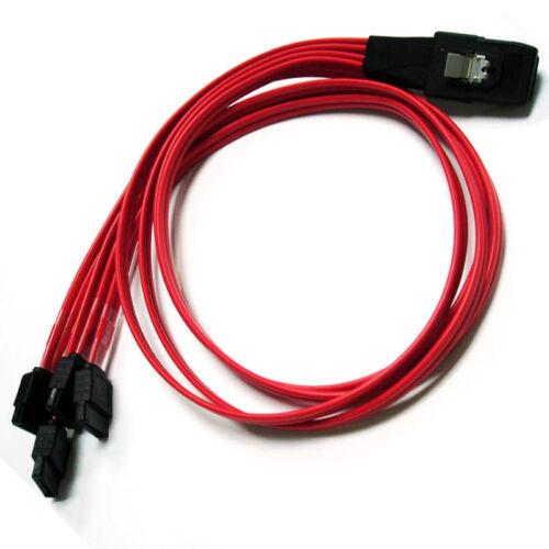 2pcs 1.64FT Mini SAS SFF-8087 36-PIN to 4 SATA 7 PIN HD Splitter Breakout Cable