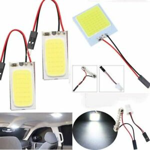 48-SMD-COB-LED-T10-4W-12V-White-Light-Car-Interior-Panel-Light-Dome-Lamp-Bulb-LR