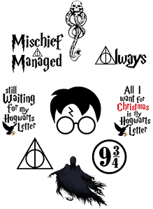HARRY-POTTER-QUOTES-CITATIONS-STICKER-AUTOCOLLANT-WALL-DECO